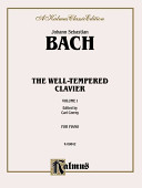 The Well Tempered Clavier  Vol 1 PDF