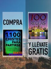 Compra 1100 CHISTES PARA PARTIRSE y llévate gratis 100 REGLAS PARA AUMENTAR TU PRODUCTIVIDAD