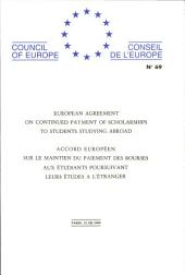 European Agreement on Continued Payment of Scholarships to Students Studying Abroad