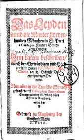 Das Leyden und die marter zweyer-hundert Mönchen in S. Petri à Cardegna Kloster Benedictiner Ordens