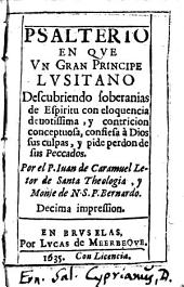 Psalterio en que un gran principe Lusitano ... confiedo à Dios sus culpas