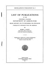 Miscellaneous Publication