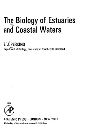 The Biology of Estuaries and Coastal Waters