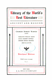 Library of the World's Best Literature, Ancient and Modern: Volume 1