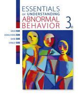 Essentials of Understanding Abnormal Behavior PDF