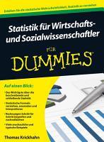 Statistik f  r Wirtschafts  und Sozialwissenschaftler f  r Dummies PDF