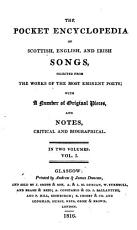 The pocket encyclopedia of Scottish  English  and Irish songs  selected from the works of the most eminent poets  with original pieces  and notes PDF