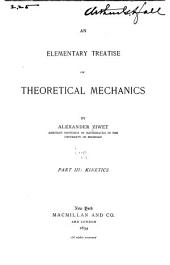 An Elementary Treatise on Theoretical Mechanics: Part 3