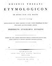 Etymologikon to mega: Etymologicon magnum. Oeconis Thebani Etymologicon : ed. P. H. Larcheri, Volume 3