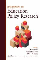 Handbook of Education Policy Research PDF
