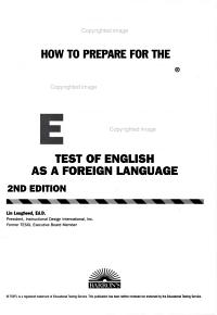 How to Prepare for the TOEFL Essay PDF