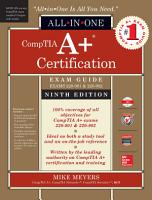 CompTIA A  Certification All in One Exam Guide  Ninth Edition  Exams 220 901   220 902  PDF
