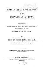 Origin and Migrations of the Polynesian Nation