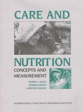 Care and Nutrition: Concepts and Measurement