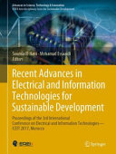 Recent Advances in Electrical and Information Technologies for Sustainable Development PDF