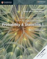 Cambridge International AS and A Level Mathematics  Probability   Statistics 1 Coursebook PDF