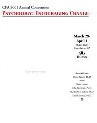 The California Psychologist Book PDF