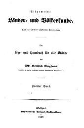 Allgemeine Länder und Völkerkunde: Band 2