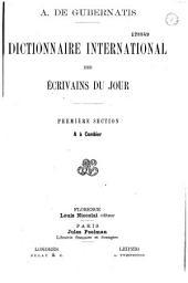 Dictionnaire international des écrivains du jour: Volume1