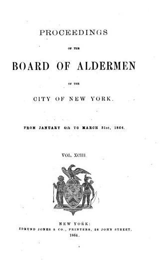 Proceedings of the Board of Aldermen PDF