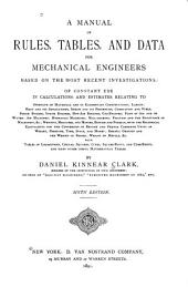 A Manual of Rules, Tables, and Data for Mechanical Engineers