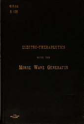 Electro-therapeutics with the Morse Wave Generator