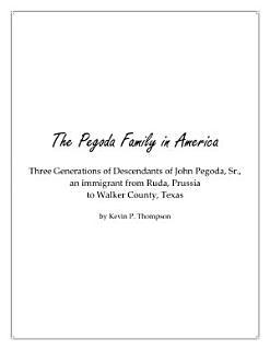 The Pegoda Family in America Book