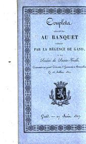 Coupletz chantés au banquet offert par la régence de Gand