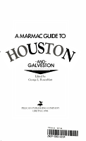A Marmac Guide to Houston and Galveston PDF
