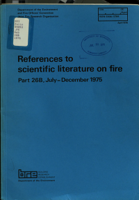 References to Scientific Literature on Fire PDF