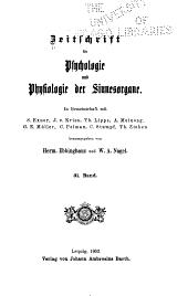 Zeitschrift für Psychologie und Physiologie der Sinnesorgane: Bände 31-32