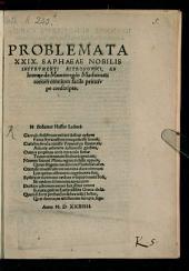 Problemata viginti novem Saphaeae nobilis instrumenti astron