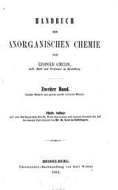 Handbuch der anorganischen Chemie: Volume 2