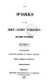 The works of the Rev. John Wesley: Volume 5