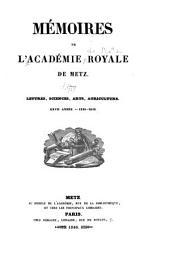 Mémoires de l'Académie nationale de Metz: Volume27