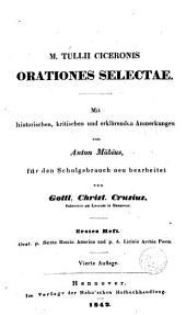 M. Tullii Ciceronis Orationes selectae