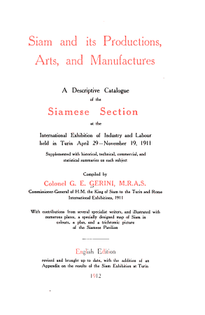 Siam and Its Productions  Arts and Manufactures PDF