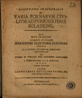 Disputatio inauguralis de varia poenarum civilium ad puniendi fines relatione