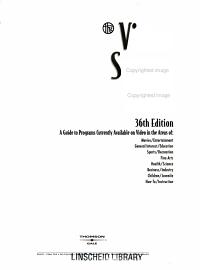 Video Source Book  Video Program Listings A I