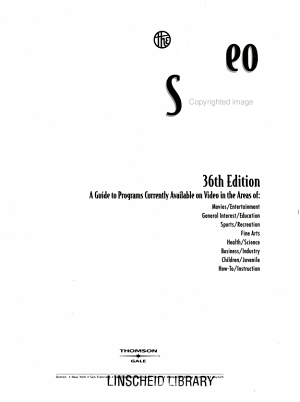 Video Source Book  Video program listings A I