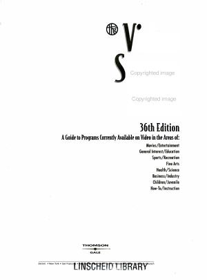 Video Source Book: Video program listings A-I
