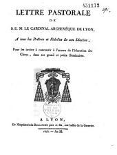 Lettre pastorale aux prêtres et aux fidèles sur l'éducation des clercs dans les séminaires