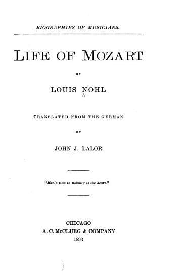 Life of Mozart PDF