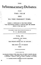 The Parliamentary Debates from the Year 1803 to the Present Time   23 PDF