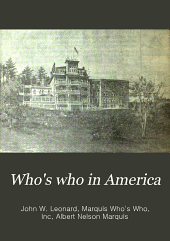 Who's who in America: Volume 3