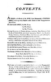 Monmouthshire. Historical and Descriptive Accounts of the Ancient and Present State of Tintern Abbey,: Including a Variety of Other Particulars, Deserving the Stranger's Notice, Relating to that Much-admired Ruin, and Its Neighborhood. : The Whole Never Before Published. : Collected from Original Papers and Unquestionable Authorities