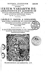 Historia augustanae confessionis, etc