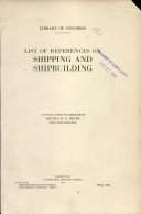 Download List of References on Shipping and Shipbuilding Book