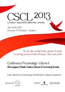 The Computer Supported Collaborative Learning  CSCL  Conference 2013  Volume 2 PDF