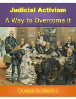 Judicial Activism  A Way to Overcome it PDF